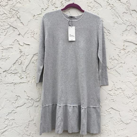 03a1264d Zara Knit Women's Light Gray Dress size Large NWT